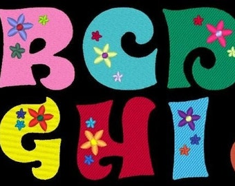 GROOVIN - 160 Machine Embroidery Font Designs Instant Download 4x4 5x7 6x10 hoop (AzEB)