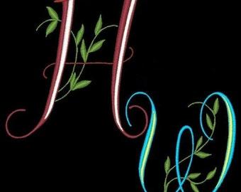 BELLA - 52 Machine Embroidery Font Designs Instant Download 4x4 5x7 6x10 hoop (AzEB)