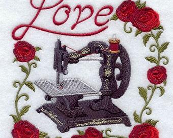 LOVE & ANTIQUE SEWING Machine - Machine Embroidered Quilt Blocks (AzEB)