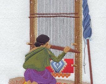 WEAVING LOOM - Machine Embroidery Quilt Blocks (AZEB)