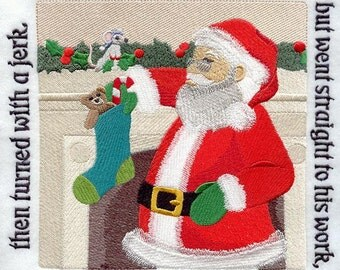 The NIGHT BEFORE CHRISTMAS Storybook - Page 25- Machine Embroidered Quilt Block (AzEB)
