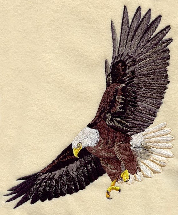 Flying Eagle Machine Embroidered Quilt Blocksazeb