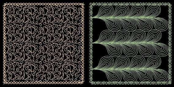QUILTING BACKGROUNDS 2 - 30 Machine Embroidery Designs Instant Download 4x4 5x7 6x10 hoop (AzEB)