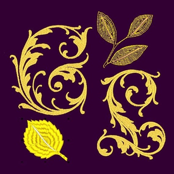 Gold leaf machine font embroidery designs azeb