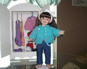 American Girl Doll Hand Knit Sweater....FREE SHIPPING