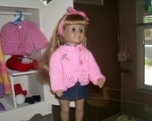 Sweater...  hand knit for AGD 's and all 18 inch dolls..FREE SHIPPING