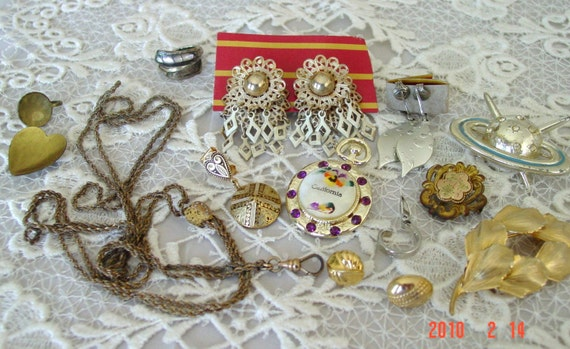 LOT ANTIQUE vintage Estate Find Jewelry, AAG Co., Cora,
