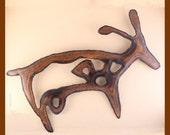 Copper Deer Petroglyph - Handmade
