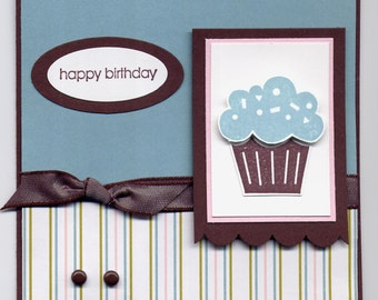 Stampin' Up! Happy Birthday cupcake card