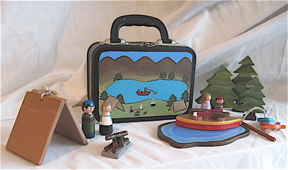 Peg Dolls - Lunch Box Campers - Reserved for Val