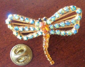 Vintage Dorothy Bauer Dragon Fly Pin  Circa 1980s