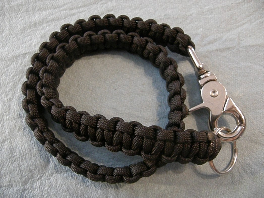 Black paracord biker wallet chain for How to make a paracord wallet chain