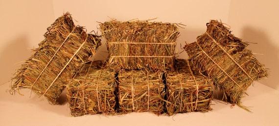 Mini Hay Bales - Set of 16