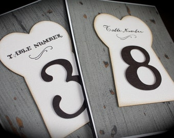 TABLE NUMBERS--Alice in Wonderland Inspired--weddings, parties, events...