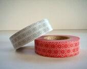 Japanese Masking Tape Set of 2 - Japanese Traditional Pattern Asanoha