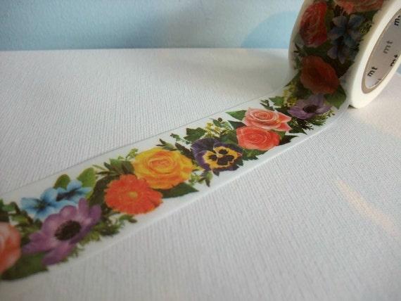 Japanese Masking Tape 1 Piece - Flower Garden