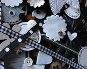 Black and White Embellishment Kit