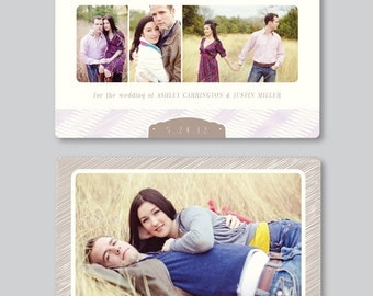 INSTANT DOWNLOAD! Sale! Vintage Save the Date Design for Photographers - 5x7 Horizontal - Wedding Photography Photoshop Template