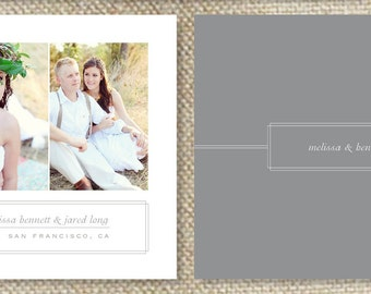 Save the Date Photography Template - 5x7 Digital Photoshop Files - Wedding Photography Photoshop Template - Design By Bittersweet