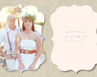 INSTANT DOWNLOAD! Save the Date Template - Vintage Save the Dates - Wedding Photographer Photoshop Templates - Design By Bittersweet