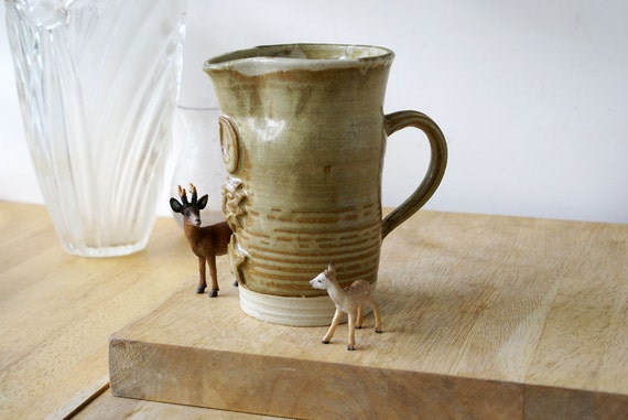 RESERVED FOR bosie - Hand thrown pouring pitcher jug in golden brown