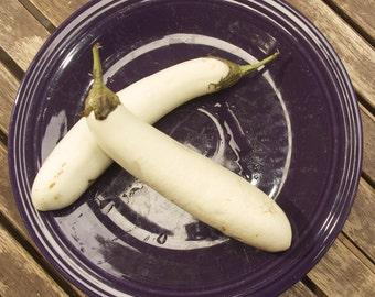 Snowy White Eggplant Seeds