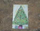 30 piece Christmas Tree Gift TAG Card Enclosure Set.  Xmas Artwork by Barclay B. Gresham. High quality matte printing.  FREE Ship
