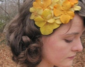 Yellow Brick Road - A Fancy Floral Fascinator by Thimble Kiss