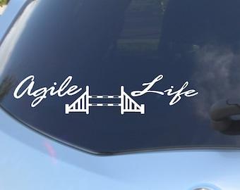 Agile Life, dog Agility, Vinyl Sticker, Car Decal, Dog Vinyl Sticker