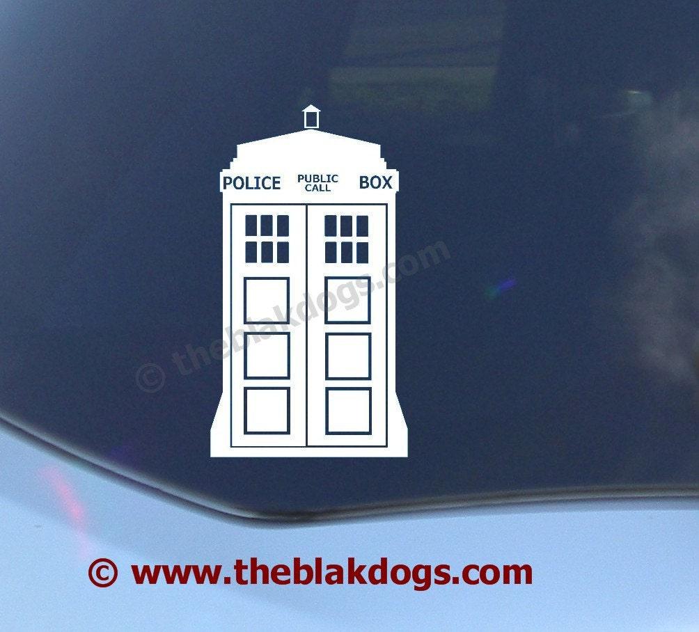 Police Call Box Time Machine Vinyl Sticker Car Decal