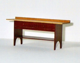 Shaker Bake Room Table - 1/12th scale