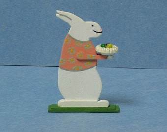 Easter Bunny with bowl of eggs - 1/12th scale