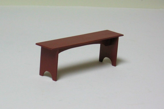 Shaker Bench - 1/12th scale