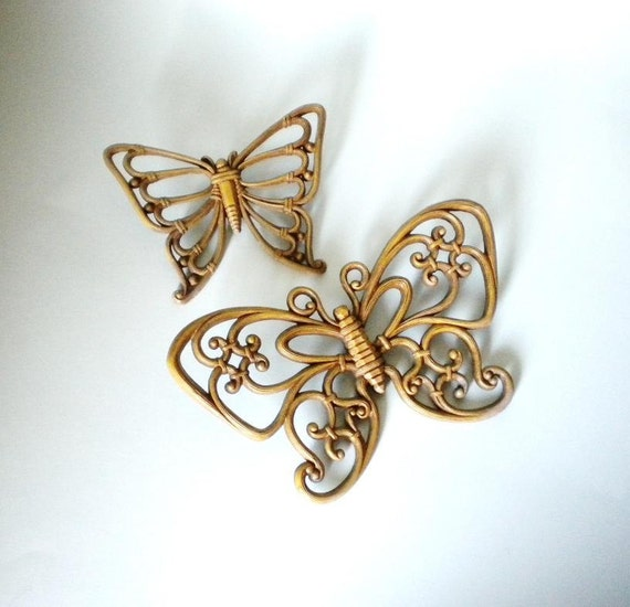 Plastic Butterfly Vintage Wall Decor Set of Two - by Homeco Dart Industries