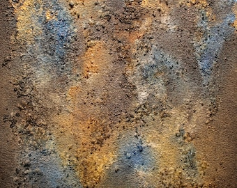"Abstract Mixed Media Painting-""Caustic 1"" (small painting)"