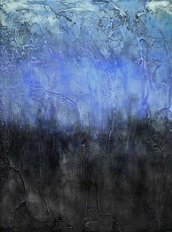 "Abstract Acrylic Painting-""Precipice"""