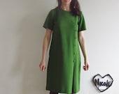 space age mod shift dress . pea green atomic kitten .medium .sale