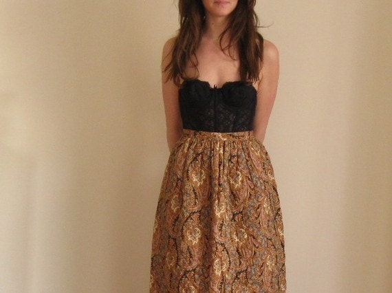 quilted prairie skirt . floor length maxi boho hippie .extra small.small .sale s a l e