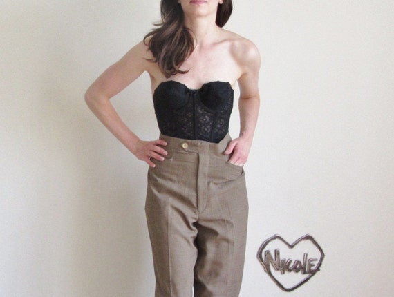 charcoal brown trouser pant . dapper menswear .mens large.extra large.xl .sale s a l e