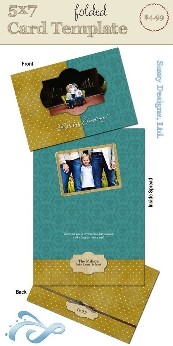 5x7 folded card template old tyme holiday for 5x7 postcard mailing template