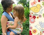 Fuer Cordu, BABY WRAP SLING, Carrier - Ready to Ship - Easy to Use - One Size Fits All - \/ Patinho lindo \/