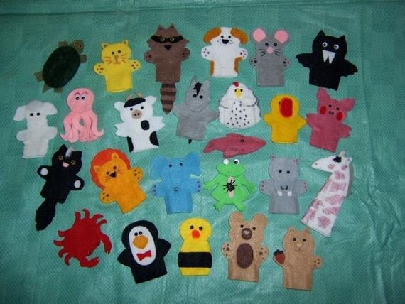Set of 10 Finger Puppets