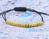 SALE-Gold beads bracelet