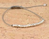 Sterling silver nuggets bracelet