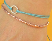 Tiny  rose gold adjustable bracelet