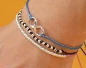 Sterling Silver Karma Infinity bracelet . friendship