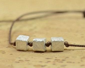 3  dices  bracelet-Sterling silver