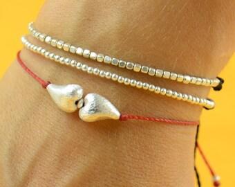 Little hearts   Sterling silver bracelet