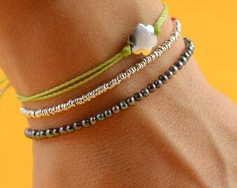 Grey Pearls bracelet