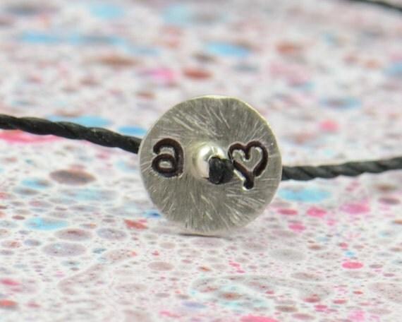 SALE- Stamped sterling silver bracelet